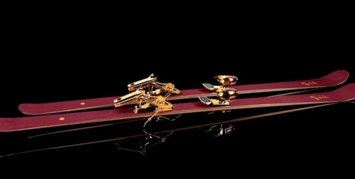 These $42K 14-Karat Gold-Adorned Skis Were Created for Jackie Chan