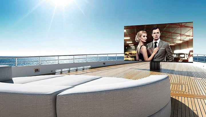 This 201″ TV Was Designed Specifically for Superyachts
