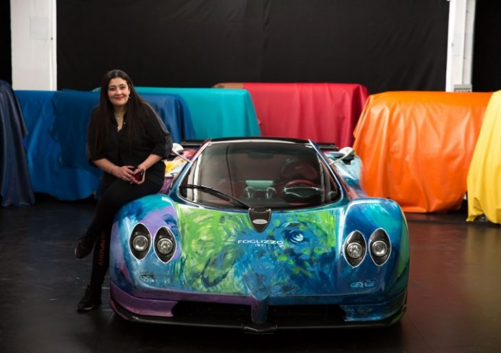 Saudi Artist Shalemar Sharbatly Uses Pagani Zonda S As Her Canvas