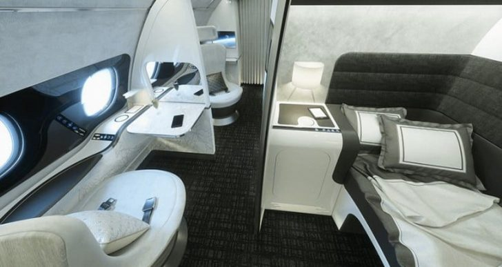 Airbus 'Day & Night' First-Class Cabin Offers Separate Work, Dining, Rest Areas