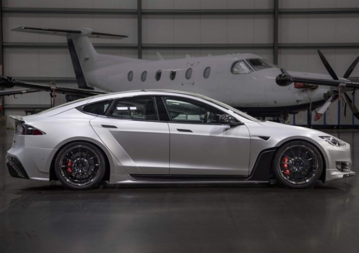 Tesla Model S Gets Aggressive With $50K Wide-Body Kit by Unplugged Performance
