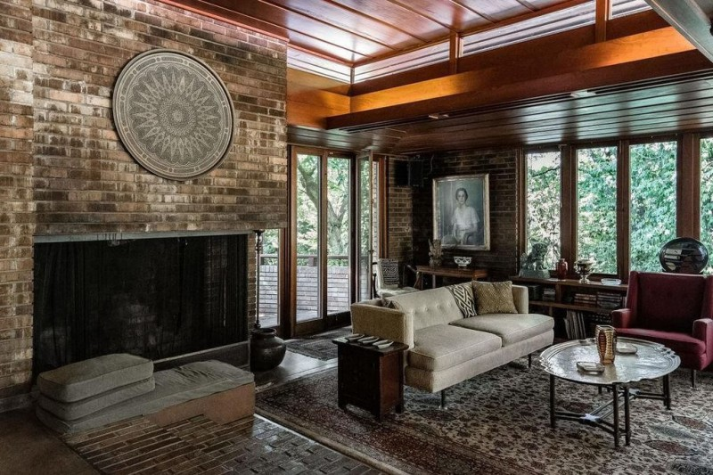 Brick For Sale >> Frank Lloyd Wright's Sondern-Adler House in Kansas City Hits the Market at $1.65M | American Luxury