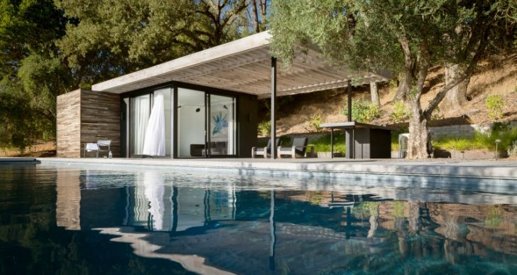 Dry Creek Poolhouse in California by Ro I Rockett Design