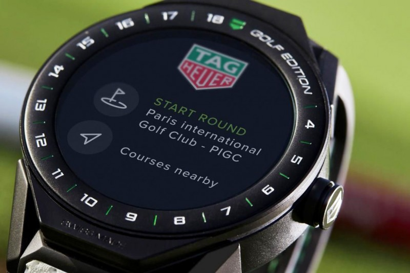 tag heuer introduces smartwatch for golfers american luxury. Black Bedroom Furniture Sets. Home Design Ideas