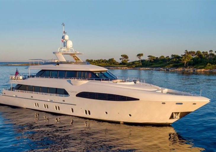 Dutch-Built 'Crystal' Motoryacht Offers a Classic-styled Aesthetic Inside and Out at $10M