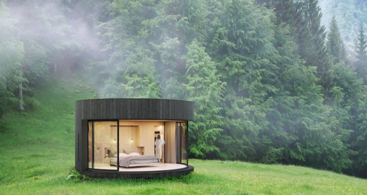 LUMIPOD Prefab Cabin Features Circular Design for Great Views