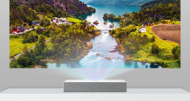 LG's Latest Ultra Short Throw Projector Delivers 90 Inches of 4K Goodness