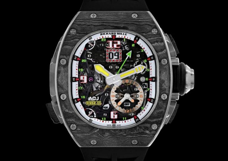 Richard Mille Pushes Its Own Limits With $1.2M 'RM 62-01 Tourbillon Vibrating Alarm Airbus Corporate Jets'