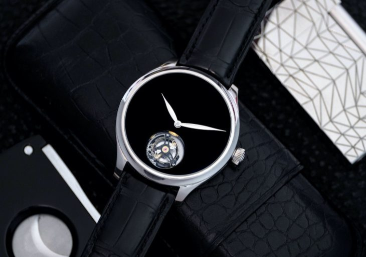 H. Moser & Cie. 'Endeavour Tourbillon Concept Vantablack' Is a Tastefully Executed Timepiece With a Black Hole for a Dial