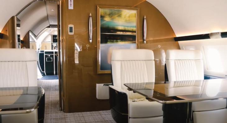 Chinese Billionaire's Bespoke Jumbo Jet Rooted in Nautical Design Sensibilities