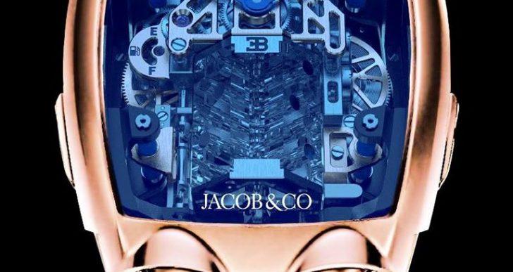 Jacob & Co Crafts $280K Bugatti Chiron Tourbillon Timepiece Complete With W16 Engine