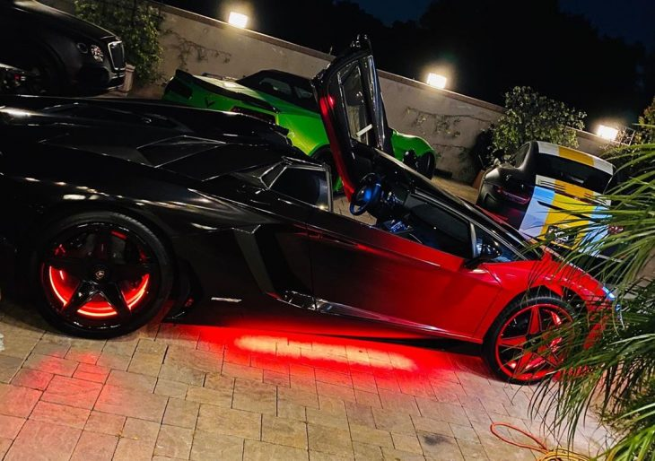 Chris Brown Customizes Another Lamborghini Aventador SV, This One a Roadster