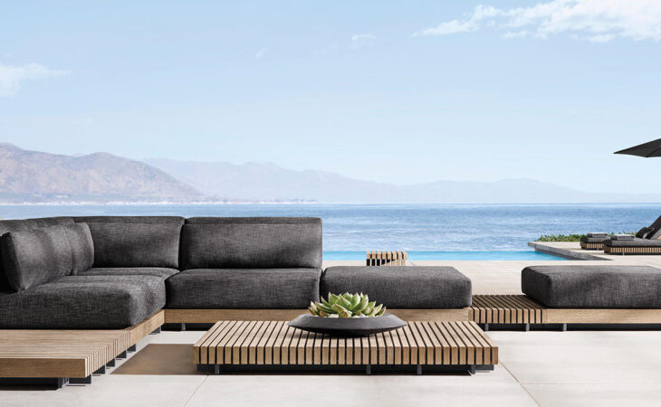RH's Caicos Outdoor Collection Rooted in a Clean, Modern Ideal