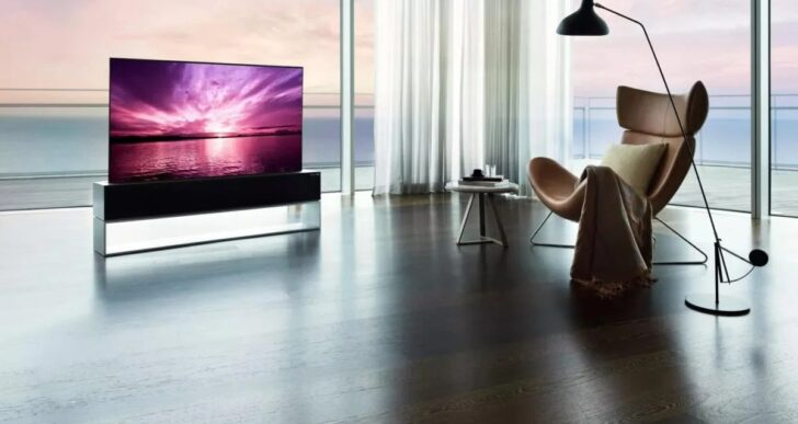 Now You See It, Now You Don't: LG Introduces Rollable 8K TV for $87K