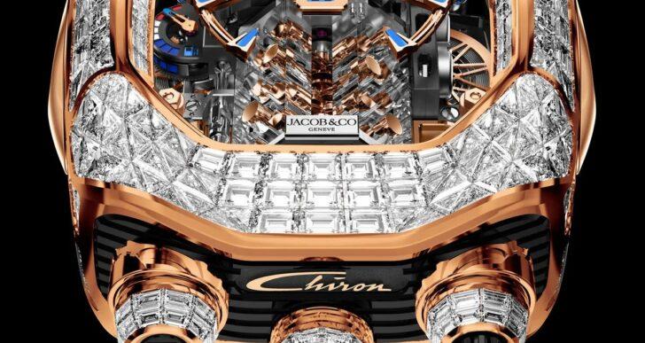 Bugatti and Jacob & Co. Deliver Limited Run of the Dazzling Chiron Tourbillon