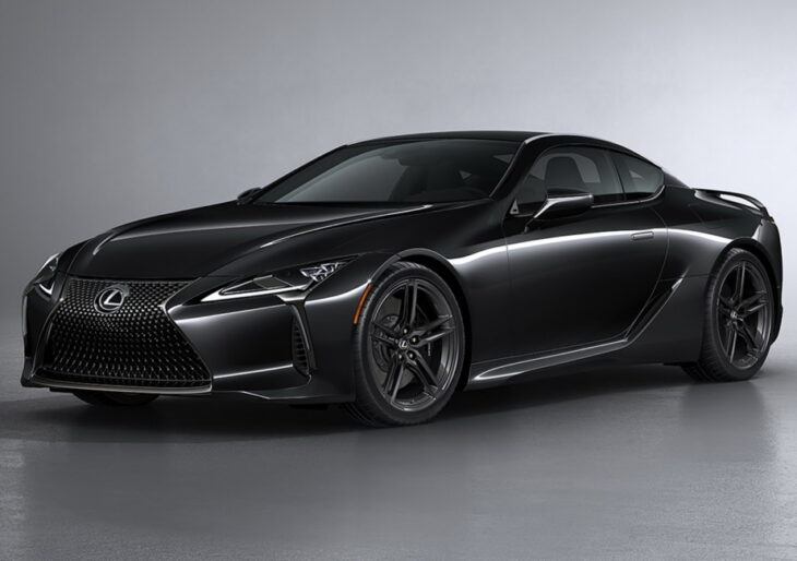 2021 Lexus LC 500 Inspiration Series Opts for Black-on-Black Aesthetic