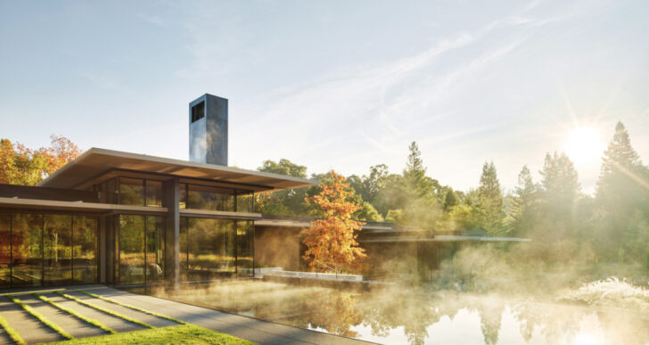 California Meadow House in California by Olson Kundig