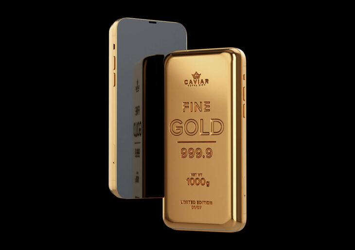 Caviar's $159K iPhone 12 'Goldphone' Is Embedded Into One-Kilogram Gold Bar