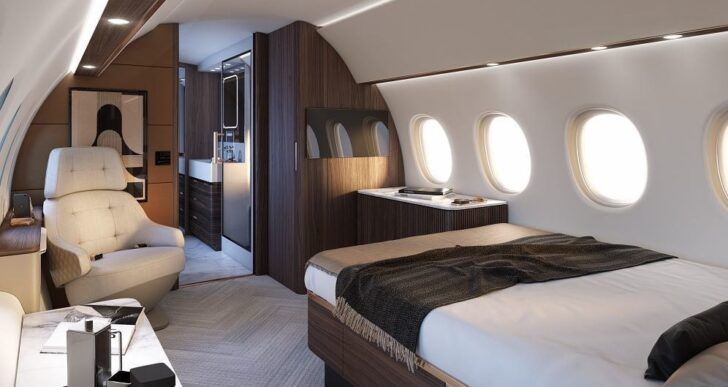 Dassault's New Ultralong-Range Falcon 10X Features Largest Cabin in Class