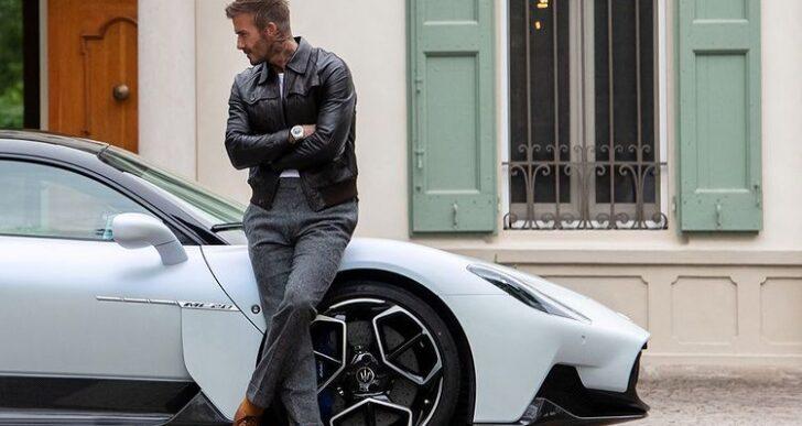 David Beckham Gets an Early Look at Maserati MC20