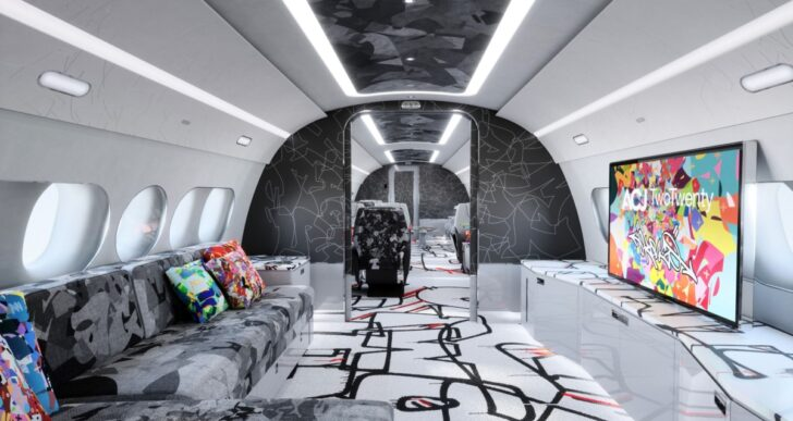 Airbus Taps Artist Cyril Kongo for Colorful Rendition of TwoTwenty Cabin