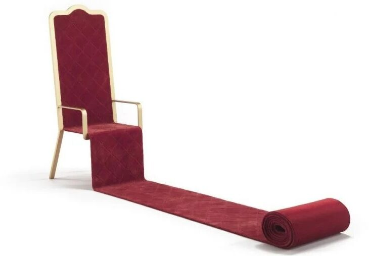 Throne Complete With Red Carpet Could Be Yours for $19K